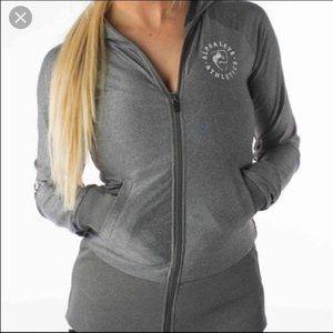 Alphalete Gray Hooded Zipper Jacket Sz M